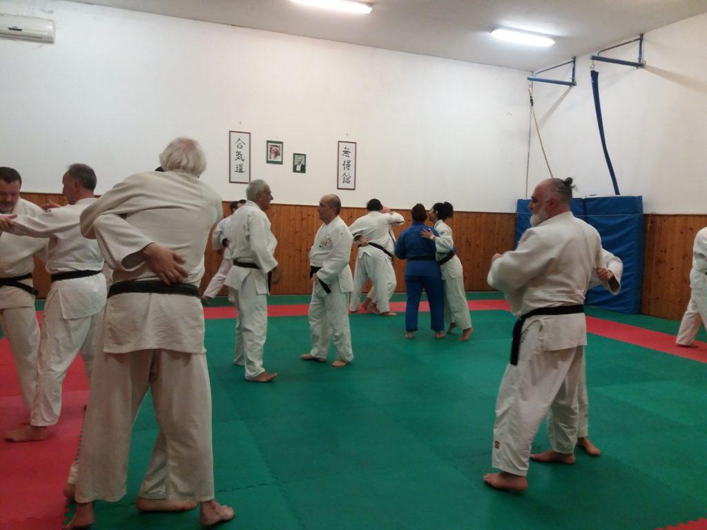 Judokas in allenamento