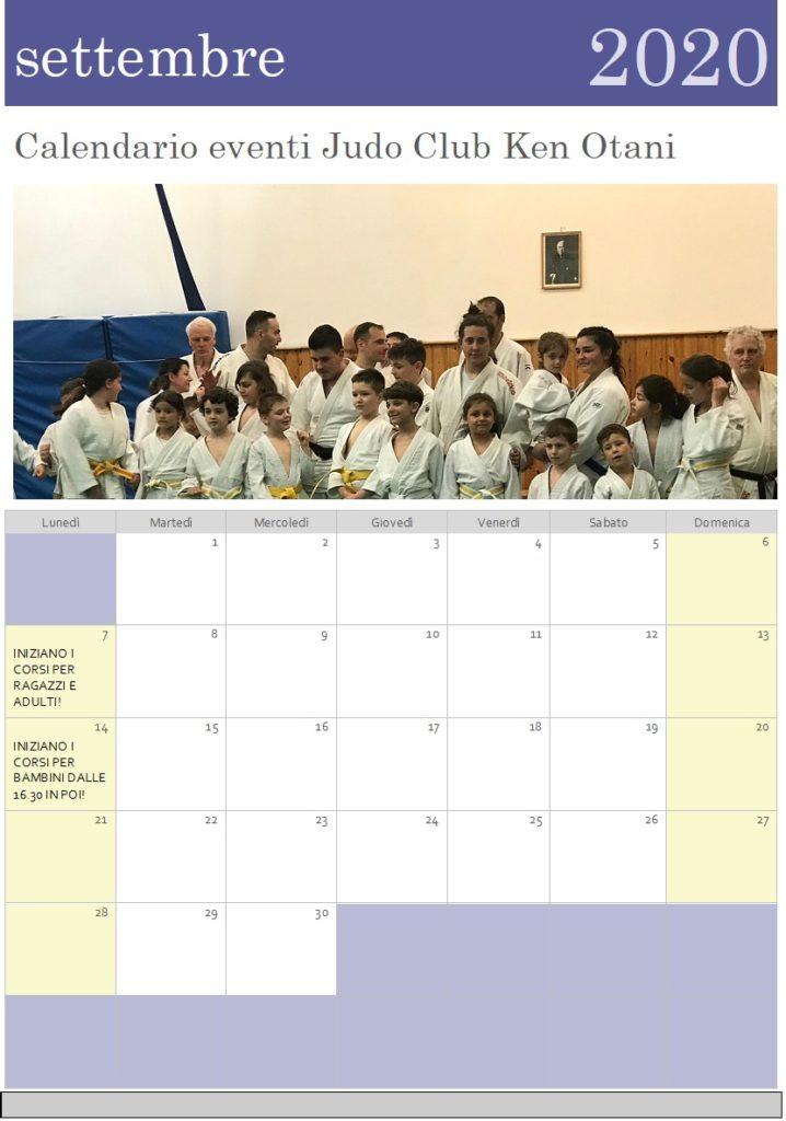 CALENDARIO 2020 – Judo Club Ken Otani